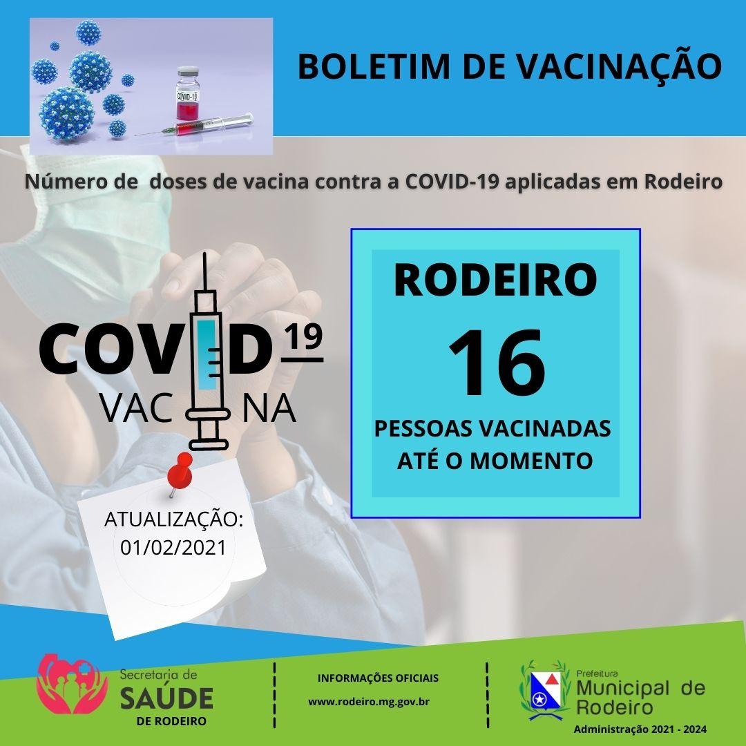 BOLETIM DE VACINAÇÃO COVID -19 RODEIRO