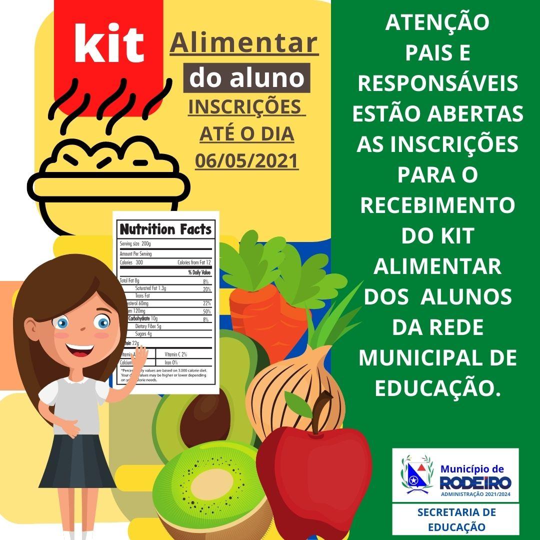 Formulário para o Kit alimentar do aluno