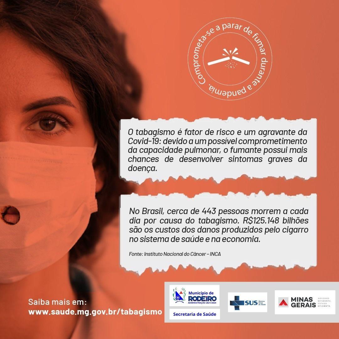 Campanha de combate ao tabagismo.