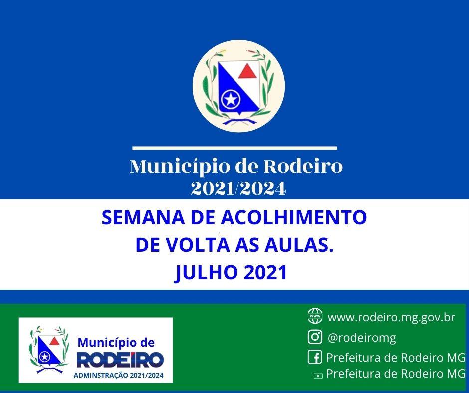 SEMANA DE ACOLHIMENTO DE VOLTA AS AULAS