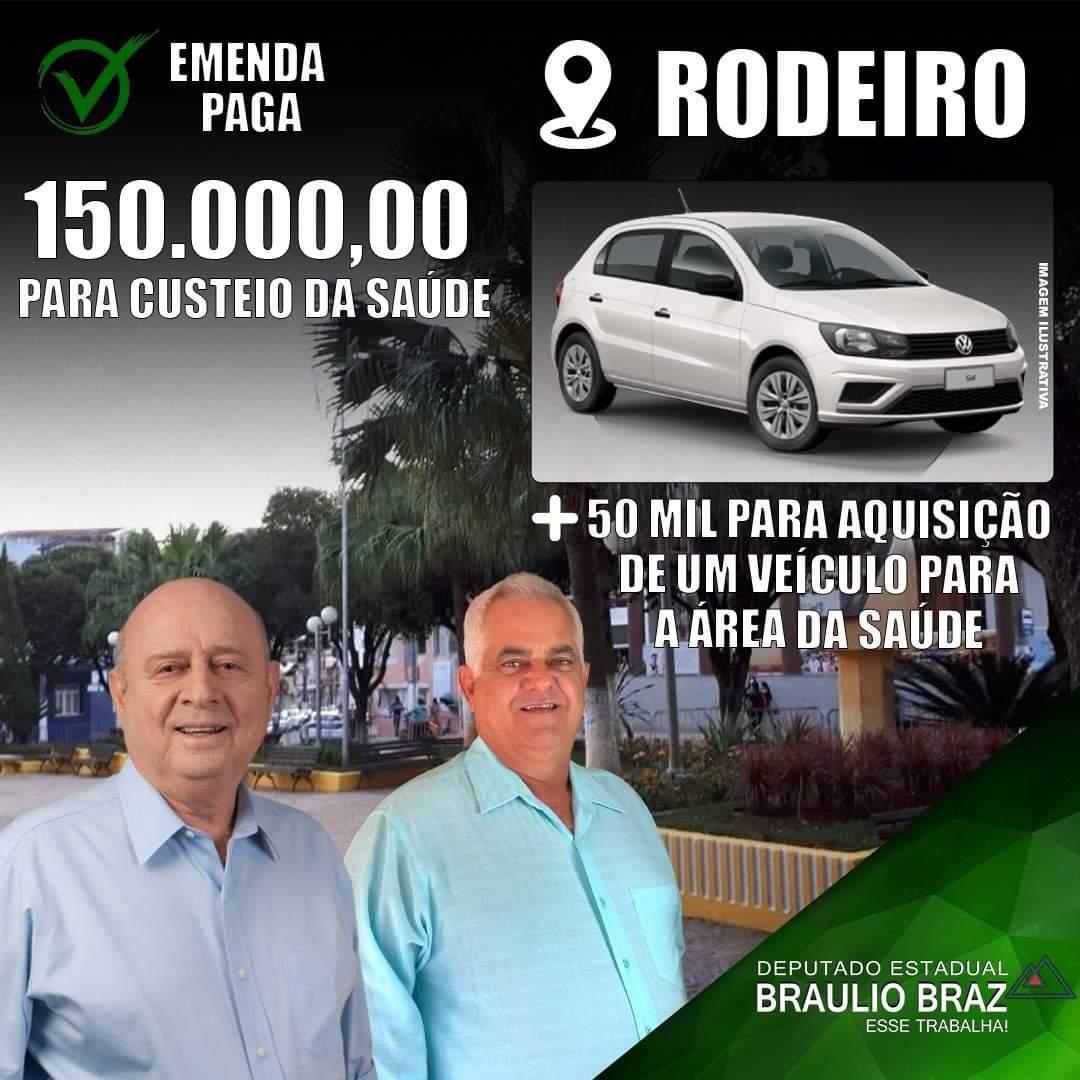 RODEIRO RECEBE R$ 200.000,00 PARA INVESTIMENTOS!