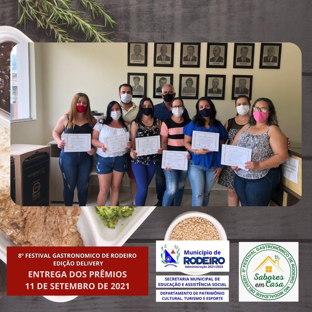 ENTREGA DOS PRÊMIOS DO 8º FESTIVAL GASTRONÔMICO DE RODEIRO-EDIÇÃO DELIVERY