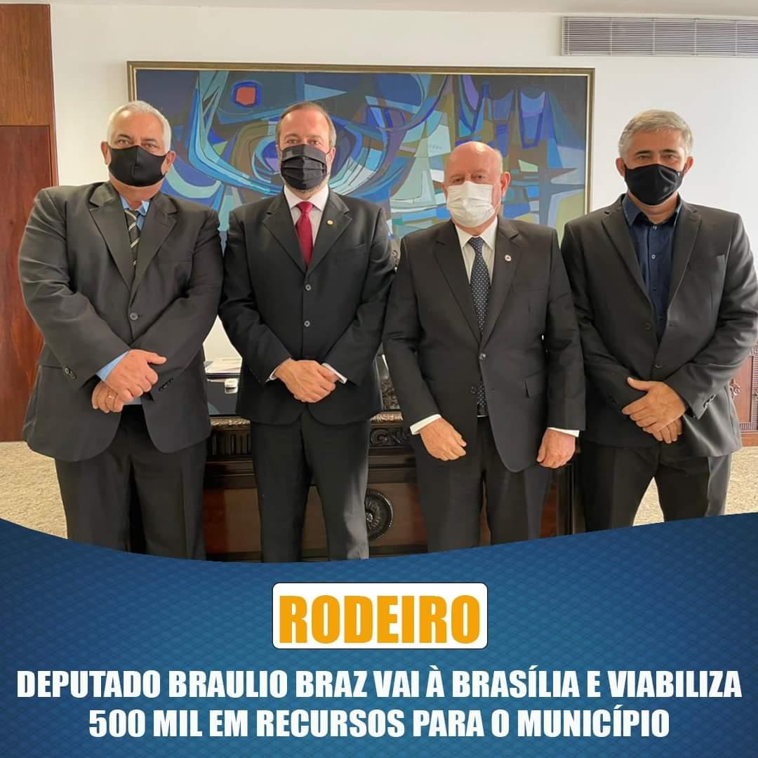 DEPUTADO BRÁULIO BRAZ VIABILIZA RECURSO PARA O MUNICÍPIO DE RODEIRIO