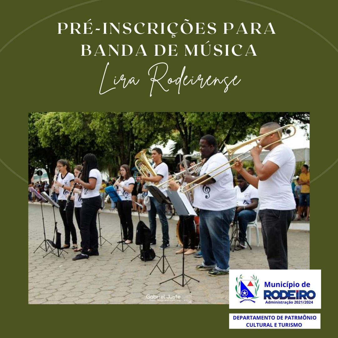 Pré-inscrições para Banda de Música Lira Rodeirense