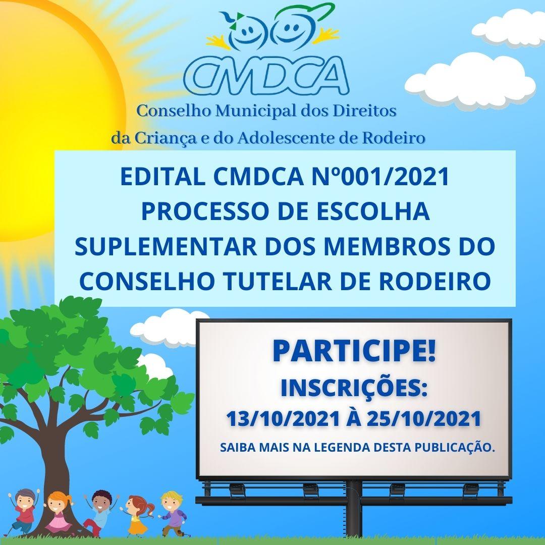 EDITAL CMDCA 001/2021